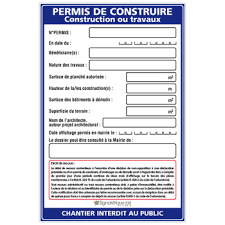 AFFICHAGE DU PERMIS DE CONSTRUIRE ET DE DÉCLARATIONS PRÉALABLE OU D'UNE ENQUÊTE PUBLIQUE