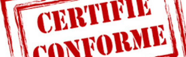 CERTIFICATION CONFORME